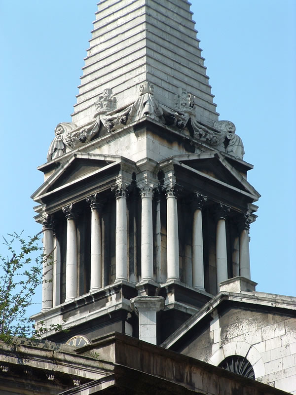 St George's Bloomsbury before restoration